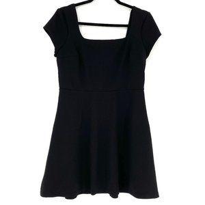 EXPRESS Black A-Line Square Neck Mini Dress - M